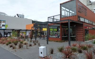 Die neue und provisorische Innenstadt in Wellington