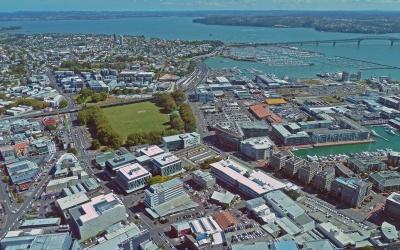 Auckland vom Auckland Skytower aus gesehen