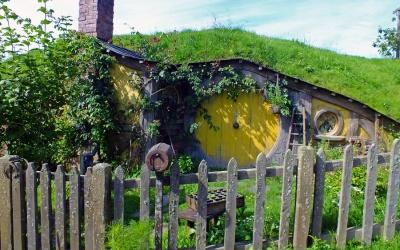 "Filmkulisse \""Hobbingen\"" / \""The Shire\"" aus dem Herrn der Ringe & dem Hobbit nahe des Ortes Matamata"