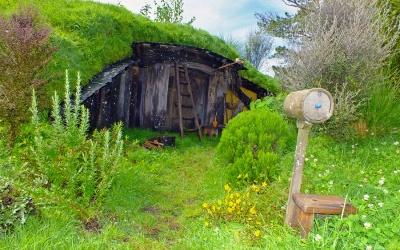 "Filmkulisse ""Hobbingen"" / ""The Shire"" aus dem Herrn der Ringe & dem Hobbit nahe des Ortes Matamata"