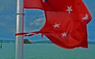 Flagge Neuseeland bei Paihia / Russel