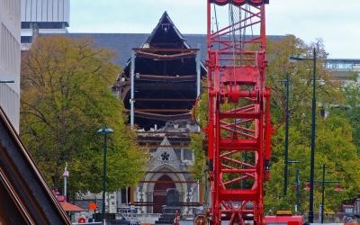 Die zerstörte Christchurch Cathedral