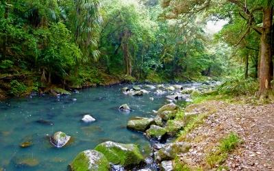 Fluss vom Wasserfall talwärts