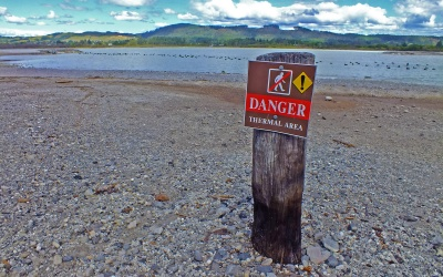 Thermale aktives Gelände bei Rotorua